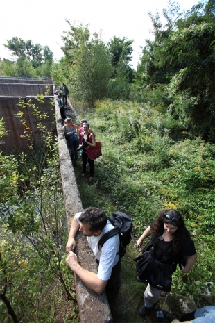 Artists on a walk to Kladno industrial landscape